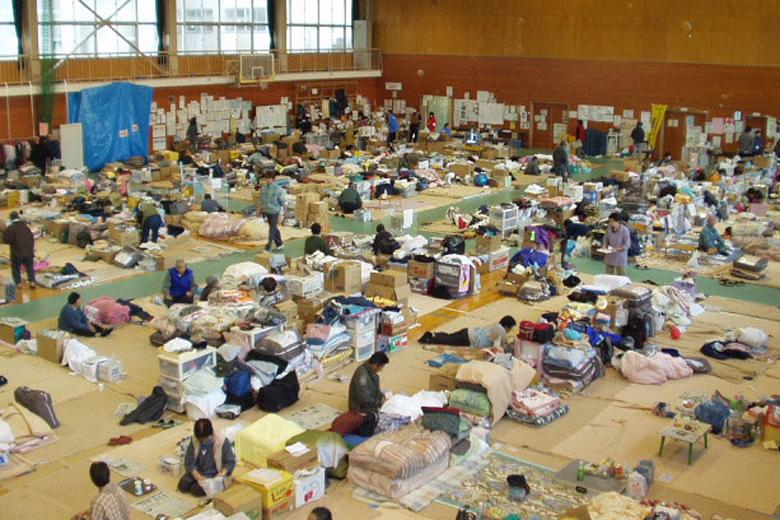山古志住民の避難所での当時の様子