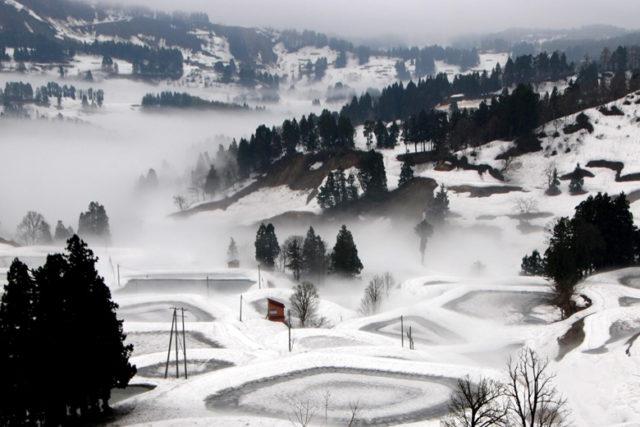 山古志の冬景色